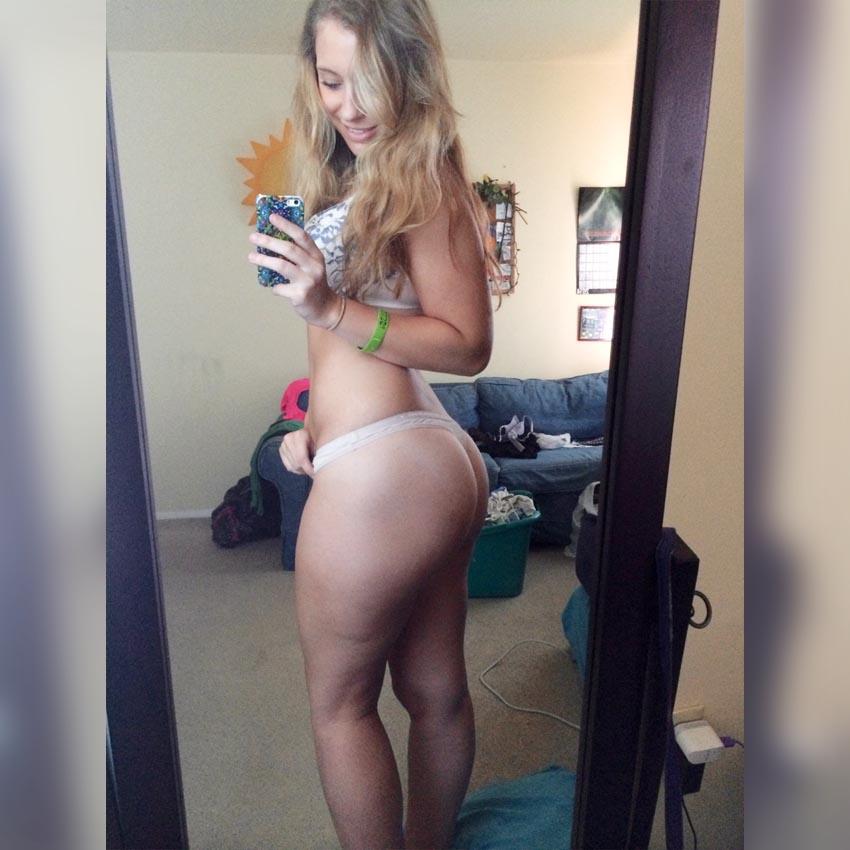 jeune blonde bon cul au dial sexy